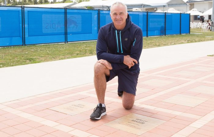 WALLY MASUR at the Tennis ACT Walk of Fame during day four of the Apis Canberra International at the Canberra Tennis Centre in Lyneham, Canberra, ACT on Tuesday 1 November 2016. Photo by: Ben Southall.