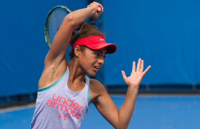 Annerly Poulos plays at 14/u Australian Championships girls singles semifinals.