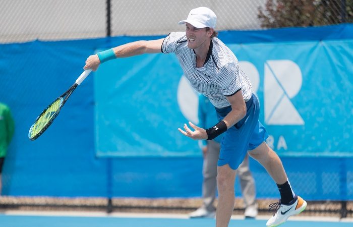 Harry BOURCHIER (AUS)  during day three of the East Hotel Canberra Challenger 2019 #EastCBRCH. Match was played at Canberra Tennis Centre in Lyneham, Canberra, ACT on Tuesday 8 January 2019. Photo: Ben Southall. #Tennis #Canberra