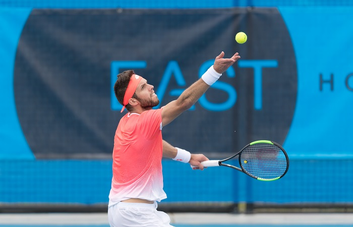 Jiri VESELY (CZE) [3] during day two of the East Hotel Canberra Challenger 2019 #EastCBRCH. Match was played at Canberra Tennis Centre in Lyneham, Canberra, ACT on Monday 7 January 2019. Photo: Ben Southall. #Tennis #Canberra
