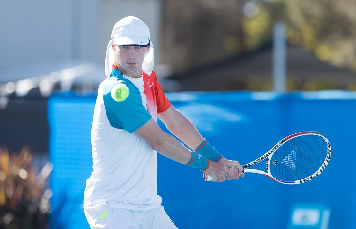Marc POLMANS (AUS) [5] during Day four of the Apis Canberra International #ApisCBRINTL. Match was played at Canberra Tennis Centre in Lyneham, Canberra, ACT on Tuesday 30 October 2018. Photo: Ben Southall. #Tennis #Canberra
