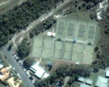 Satellite Image of Mooloolaba Tennis Courts