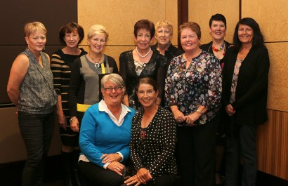 2014 Committee - Back L  to R - Carol,  Denise, Narelle, Kae, Elaine, Val, Miche, Michele. Front - Josephine and Sandy.