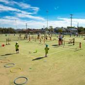 8th of November 2013. MLC Tennis Hot Shots at Parkes Tennis Club. Mark Riedy.