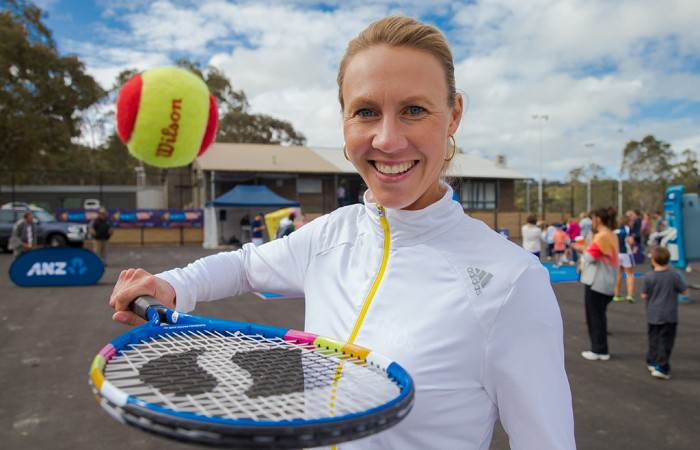 8th of November 2013. Alicia Molik at Littlehampton Tennis Club, Anembo Park, Mount Barker. Mark Riedy.