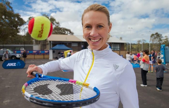 8th of November 2013. Alicia Molik at Littlehampton Tennis Club, Anembo Park, Mount Barker. Mark Riedy.