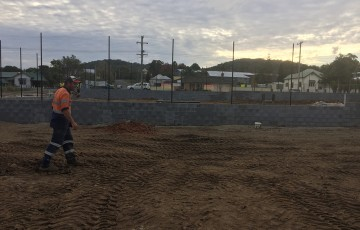 Work is underway on the $685,000 upgrade to Kendall Tennis Club