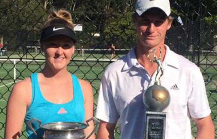 Rhiannon Marlin and Sean Carson, AMT Open winners at the 2015 Country Championships