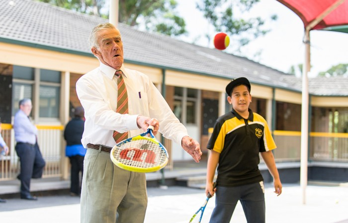 Ken Rosewall Regional Project (KRRP) Launch on 15 February 2016 at Kingswood Park Public School, Caloola Avenuw, Penrith, Sydney, Australia. This image is for Editorial Use Only. Any further use or individual sale of the image must be cleared by application to the Manager Sports Media Publishing (SMP Images). NO UNAUTHORISED COPYING : PHOTO SMP IMAGES.COM