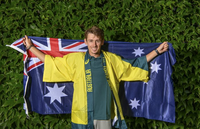 Alex De Minaur (AUS) has been named in the Australian team for Tokyo 2020 Olympic Games at The Championships 2021. Held at The All England Lawn Tennis Club, Wimbledon. Day -1 Sunday 27/06/2021. Credit: AELTC/Ben Solomon