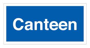Blue canteen sign