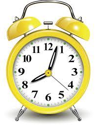 Clock yellow