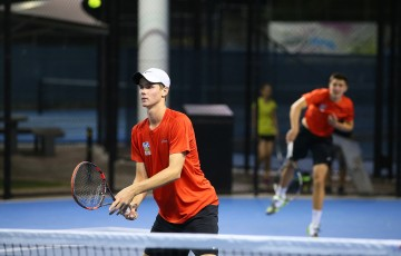 during the Brisbane ATL Conference Round at Queensland Tennis Centre on November 20, 2015 in Brisbane, Australia.