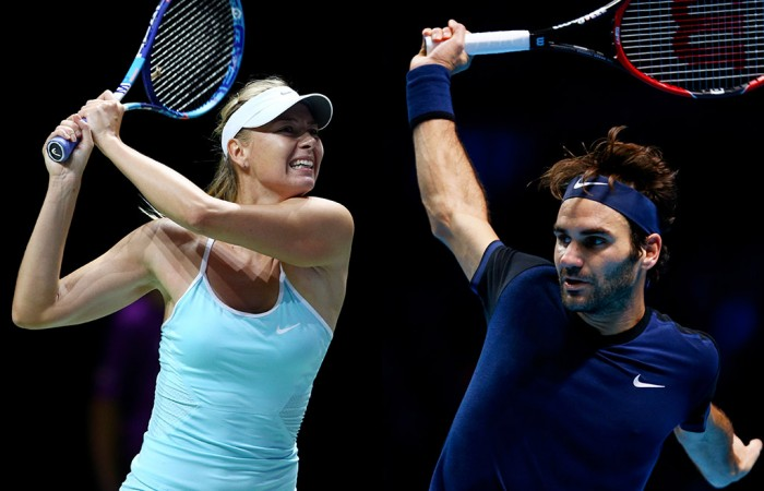 Maria Sharapova (L) and Roger Federer will headline Brisbane International 2016; Getty Images