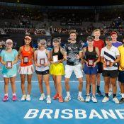 CHAMPION OF CHAMPIONS PRESENTATION  ATP CUP,  PAT RAFTER ARENA, QUEENSLAND TENNIS CENTRE, BRISBANE, QUEENSLAND, AUSTRALIA.