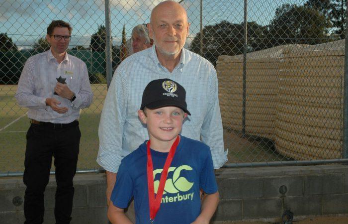Boys Runner Up Charlie Barwick with Noel Jensen