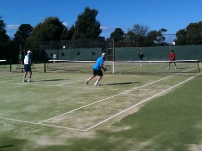 Social tennis at the Riverside