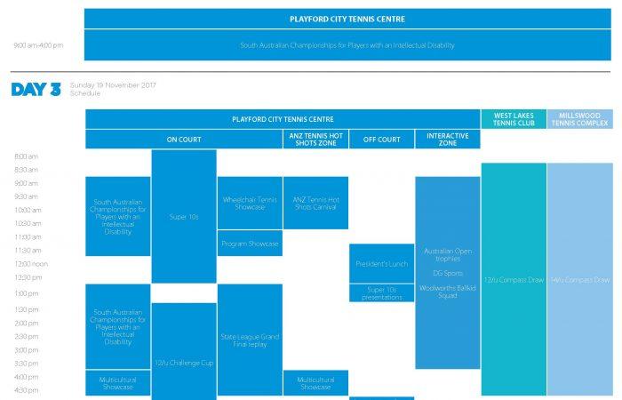 TennisFest - Schedule