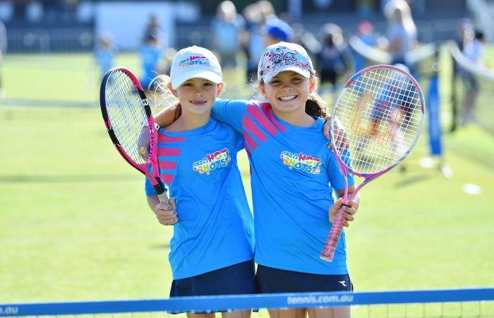 ADELAIDE, AUSTRALIA - JANUARY 17: Hot Shots morning session during day six of the 2020 Adelaide International at Memorial Drive on January 17, 2020 in Adelaide, Australia. (Photo by Mark Brake/Getty Images)