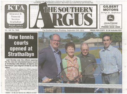 Argus Front Page