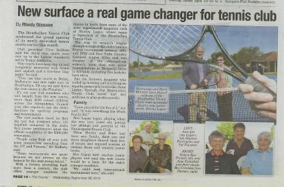 Strathalbyn Tennis Club shines in local media