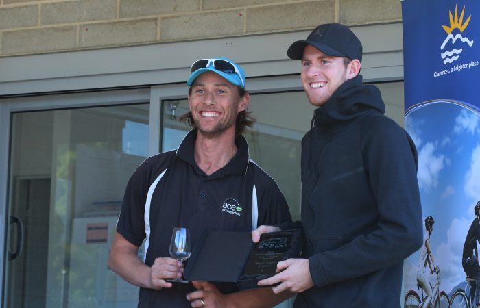 CHAMPION: Harry Bourchier won the men's singles event at the 2018 Geilston Bay Open. Photo: Martin Turmine
