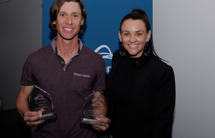 RECOGNISED: Coaching Excellence Award 2018 winner Tony Blom with Casey Dellacqua