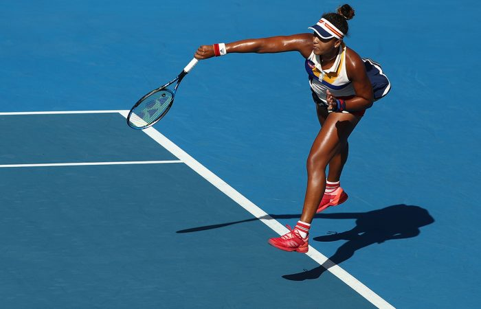 LIVE LIKE A PLAYER:  Naomi Osaka, world No.5 and reigning US Open champion, in action at Hobart International 2018; Getty Images