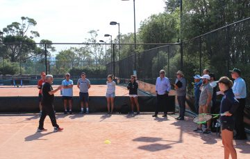 LEARNING: Rafael Nadal's mentor Jofre Potra led a coaching workshop in Hobart in early January 2019. Picture: Joe Turmine