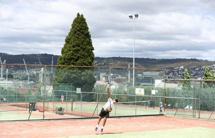 Junior tennis action in Hobart; Getty Images