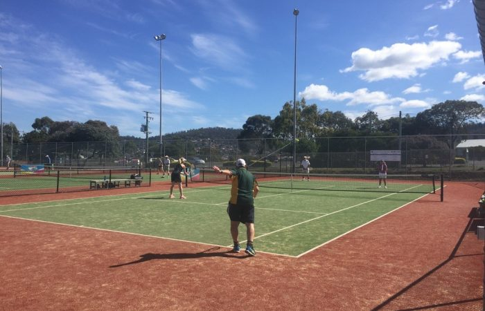 Action from Sunshine Tennis Club's 35+ social tennis day