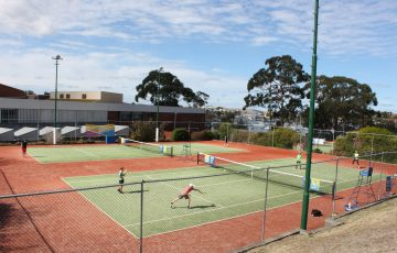 TENNIS-A-THON: The Rosny Park Tennis Club was a hive of activity.