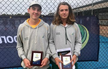 ALL STARS: Tasmania's Sam Whitehead and Ruben McCormack were named in the All Australian Team at the Pizzey Cup.