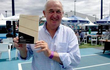 Former Tennis Tasmania President Phillip Bowden at the 2020 Launceston International; Photo: Rob Shaw.