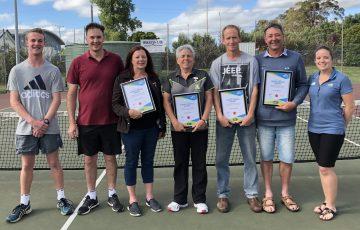 Leongatha Tennis Club volunteers