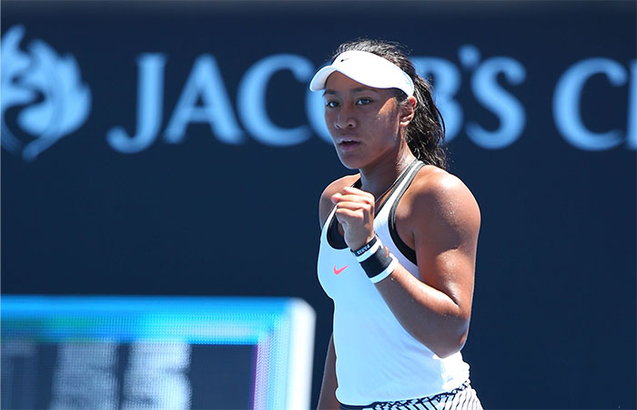 MELBOURNE, AUSTRALIA - JANUARY 16:  Destanee Aiava of Australia celebrates a point in her first round match against Mona Barthel of Germany on day one of the 2017 Australian Open at Melbourne Park on January 16, 2017 in Melbourne, Australia.  (Photo by Michael Dodge/Getty Images)