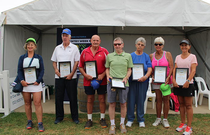 (L-R) Joanne Dow, Neil Mitchell, John Tadd, Eric Salter, Kay Hanrahan, Sandra Allen & Narelle Maxted