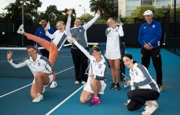 Tennis Victoria Premier League at Albert Reserve in Melbourne, Australia on November 29, 2020.