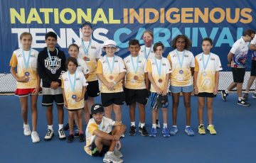 DARWIN, AUSTRALIA - SEPTEMBER 01: during the National Indigenous Tennis Carnival at the Darwin International Tennis Centre on September 01, 2019 in Darwin, Australia. (Photo by Darrian Traynor/Getty Images)