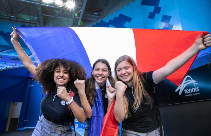 French students from International school of WA had the opportunity to watch the French team practice on  Tuesday, November 5 , 2019 at RAC Arena in Perth.
