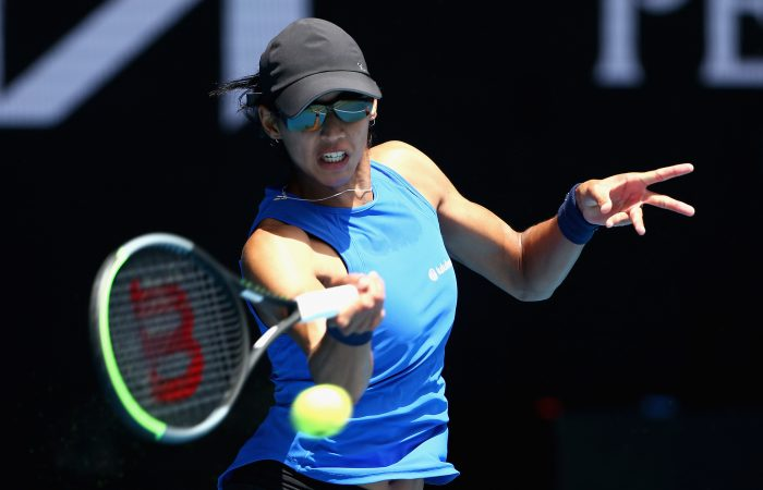 Astra SHARMA (AUS) plays on Margaret Court Arena during Day 1 of the WTA 500 Gippsland Trophy at Melbourne Park on Sunday, January 31, 2021. MANDATORY PHOTO CREDIT Tennis Australia/ Rob Prezioso