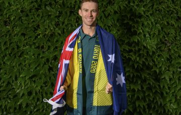 John Peers (AUS) has been named in the Australian team for Tokyo 2020 Olympic Games at The Championships 2021. Held at The All England Lawn Tennis Club, Wimbledon. Day -1 Sunday 27/06/2021. Credit: AELTC/Ben Solomon