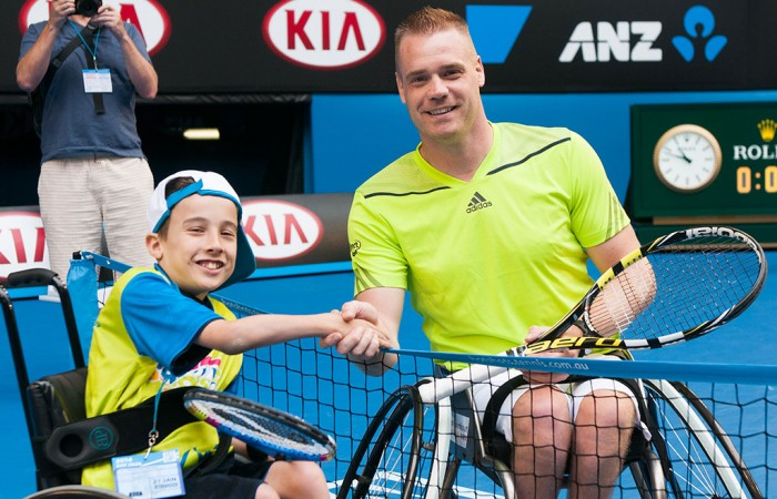 Wheelchair players, Australian Open, 2014. JAIMI CHISHOLM
