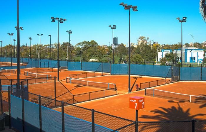 Clay courts, Melbourne Park, 2013. TENNIS AUSTRALIA