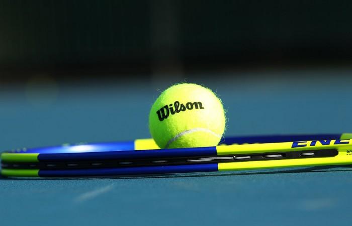 racquet and tennis ball