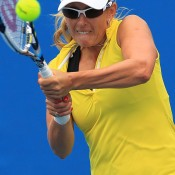 Anastasia Rodionova in action at Australian Open 2015 qualifying; Getty Images