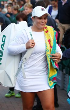 Ash Barty at Wimbledon 2016; Getty Images