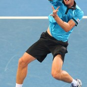 John Millman in action at Brisbane International 2015; Getty Images