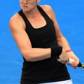 Jessica Moore in action at Australian Open 2015 qualifying; Getty Images