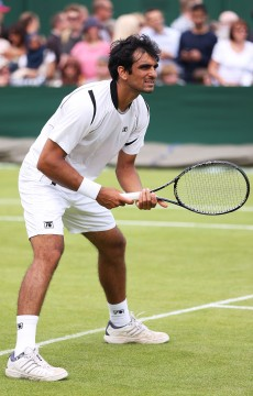 Rameez Junaid in action at Wimbledon 2013; Getty Images